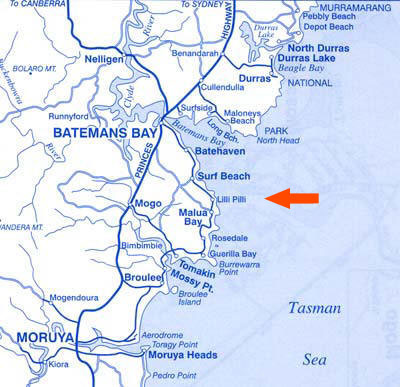 Batemans Bay Area Map